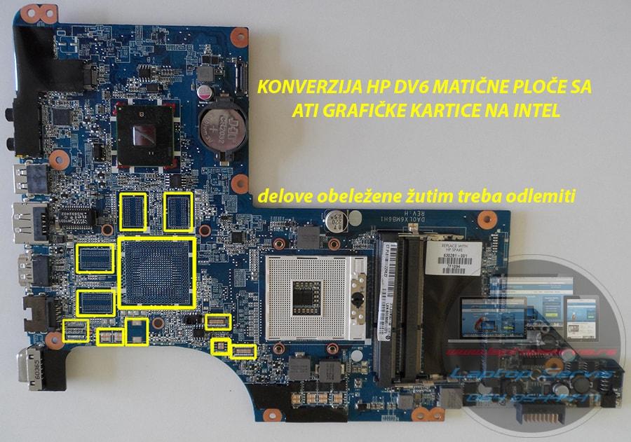 Konverzija ATI na INTEL graficku karticu HP Paviolion DV6